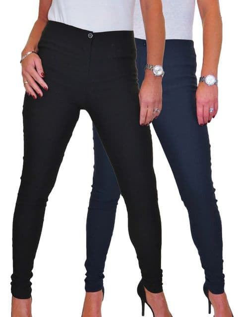 Ladies Skinny High Waist Trousers