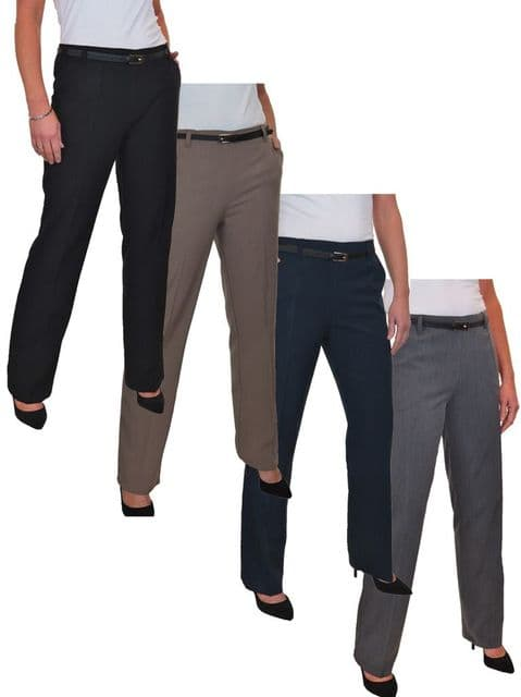 Ladies Smart Bootcut Business Trousers