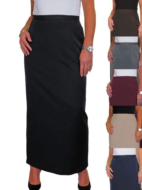 Ladies Smart Maxi Skirt Fully Lined