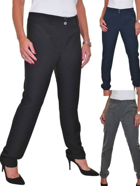 Ladies Smart Tailored Office Trousers