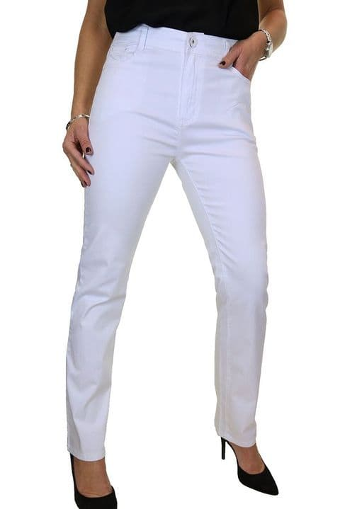 Ladies Stretch Chino Straight Leg Jeans
