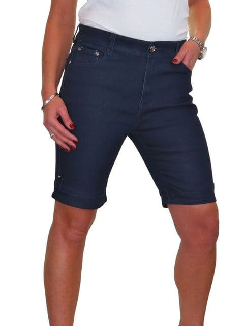 Stretch High Waist Smooth Wash  Denim Jeans Shorts