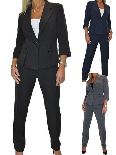 Womens Fully Lined Business Trousers Suit