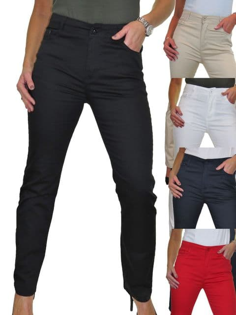 Womens High Waisted Straight Leg Jeans