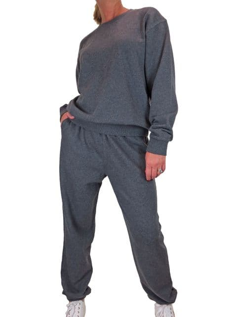 Womens Oversized Sweater and High Waist Joggers Tracksuit