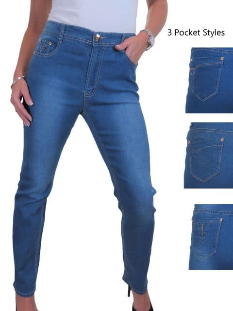 Womens Plus Size Stretch Denim Jeans