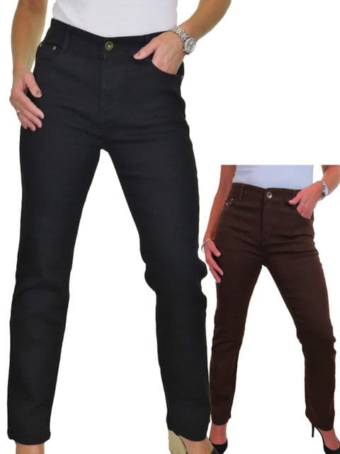 Womens Stretch Straight Leg Jeans