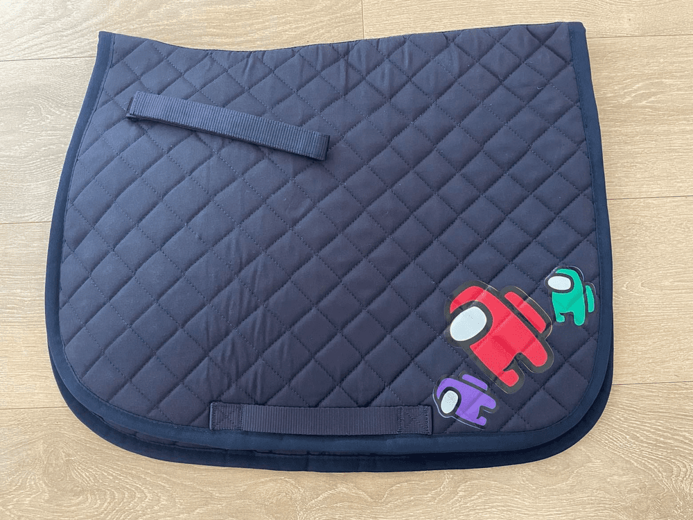 Among Us quilted Saddle Cloth