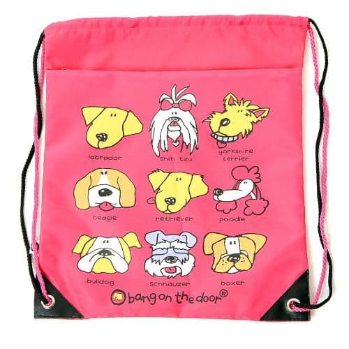 Bang On The Door Dog Heads Drawstring Bag