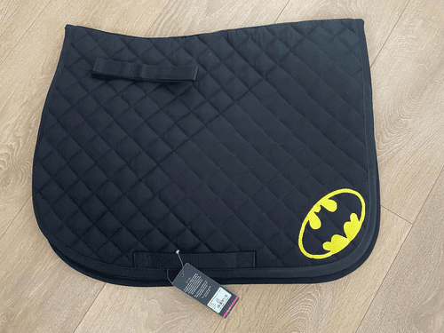Batman quilted Saddle Cloth