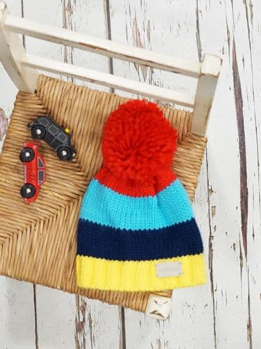 Blade & Rose Bright Stripe Bobble Hat