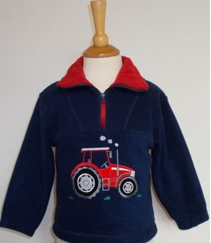 British Country Collection Big Red Tractor Fleece