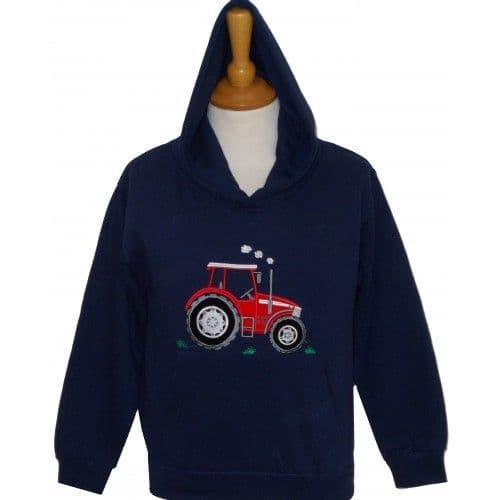 British Country Collection 'Big Red Tractor' Hoodie 7-8yrs