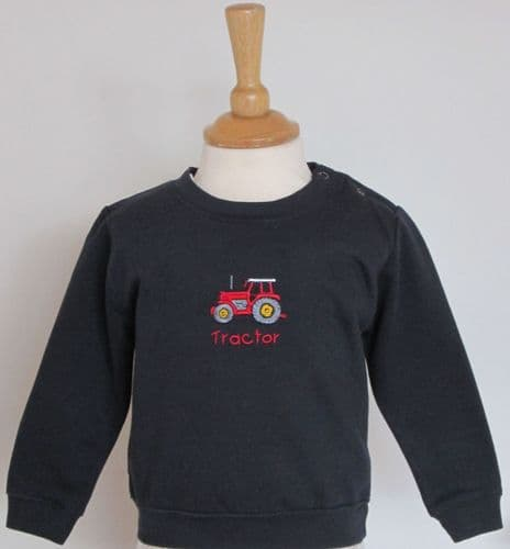 British Country Collection Tractor Baby Sweatshirt