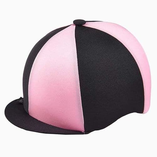 Capz Quartered Lycra Hat Cover in Black/Pink