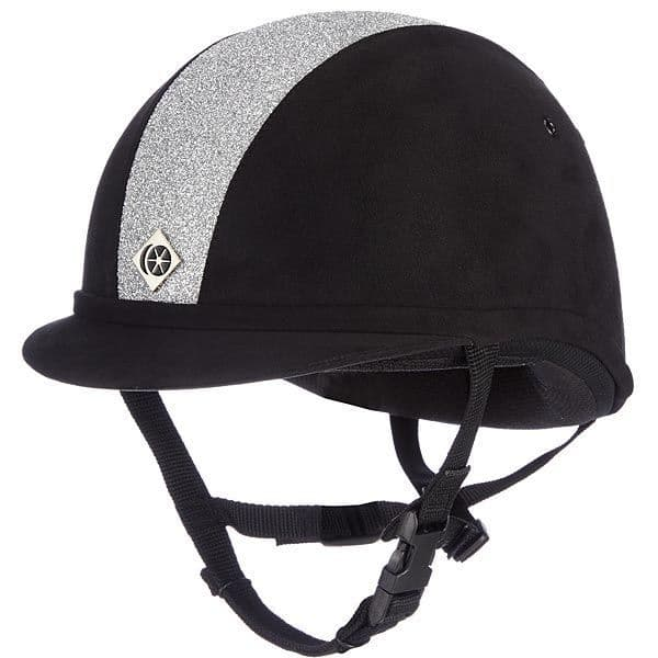 Charles Owen Yr8 Sparkly Riding Helmet in Black/Silver