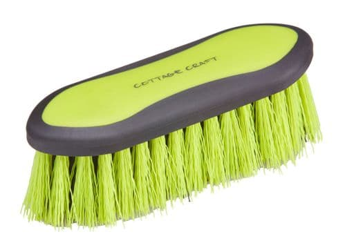 Cottage Craft Small Sized Dandy Brush in Neon Green