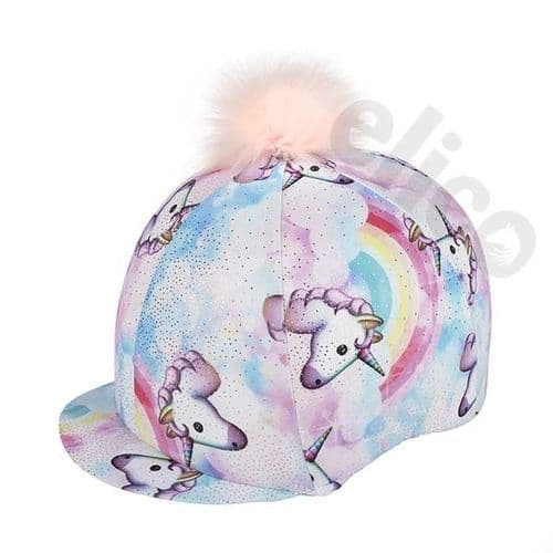 Elico Pastel Unicorn Lycra Skull Cover with Pom Pom