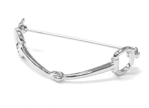 Equetech Snaffle Stock Pin in Silver