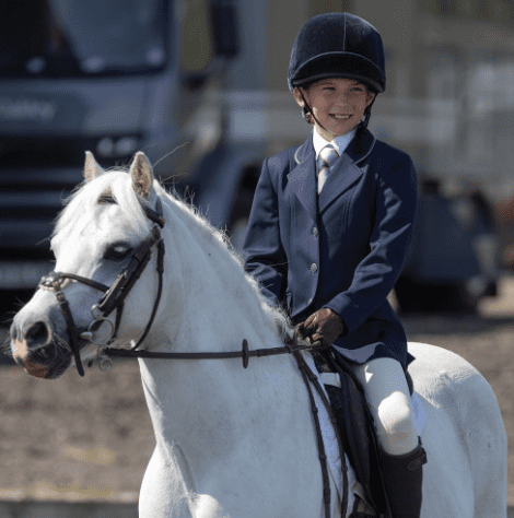 EquetechJunior Deluxe Competition Jacket in Navy