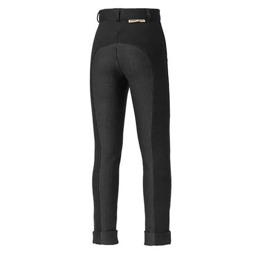 Harry Hall Junior Chester Breeches with Sticky Bum Seat in Black