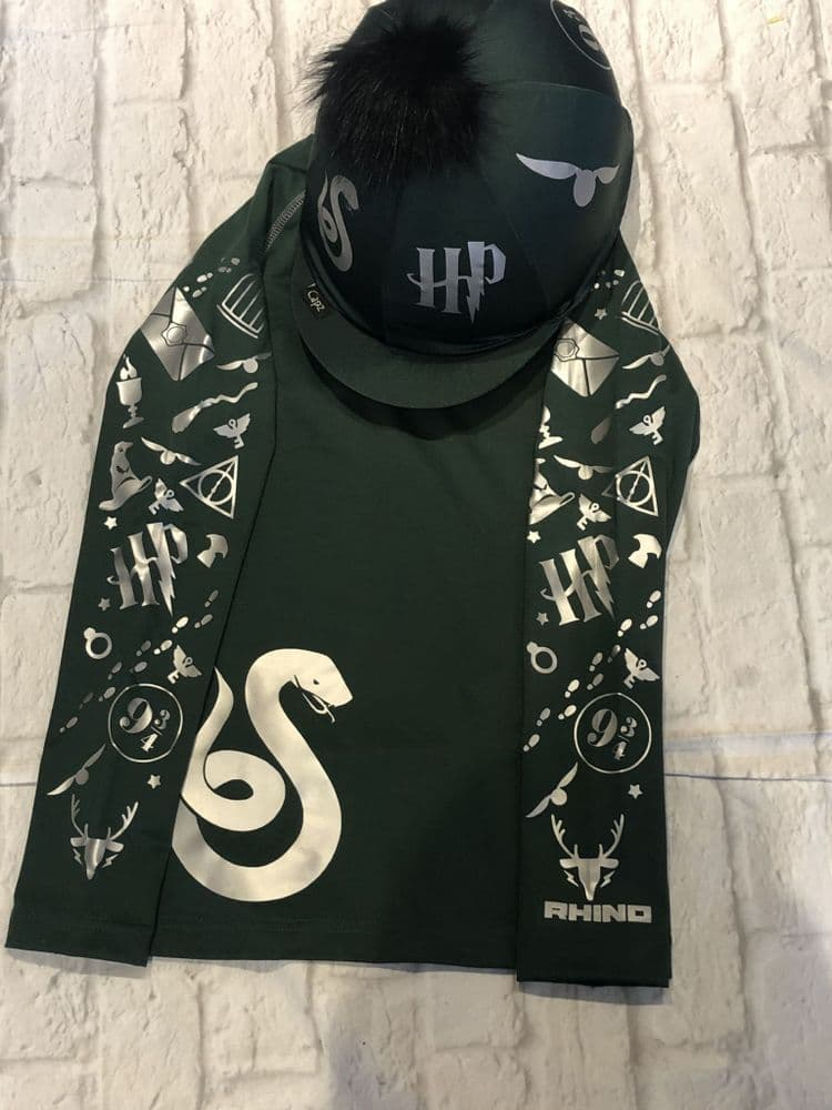 Harry Potter Slytherin Base Layer & Hat Cover Set