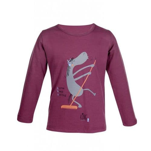 HKM  King 'Clyde' Long Sleeve Shirt 2-4yrs in Wine Red