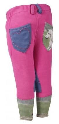 Horka 'Mathilda' Junior Breeches with Knee Patches in Fuchsia