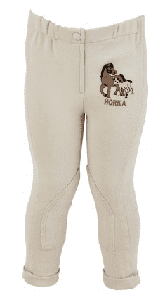 Horka 'Minis' Junior Jodhpurs with Knee Patches in Beige