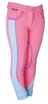 Horka 'Presto' Junior Breeches with Knee Patches in Candy Pink