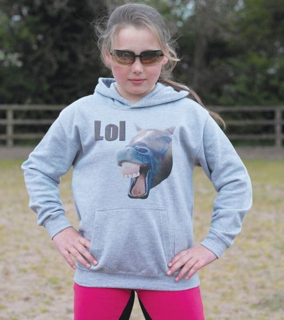 Horses With Attitude LOL Hoodie 7-8yrs