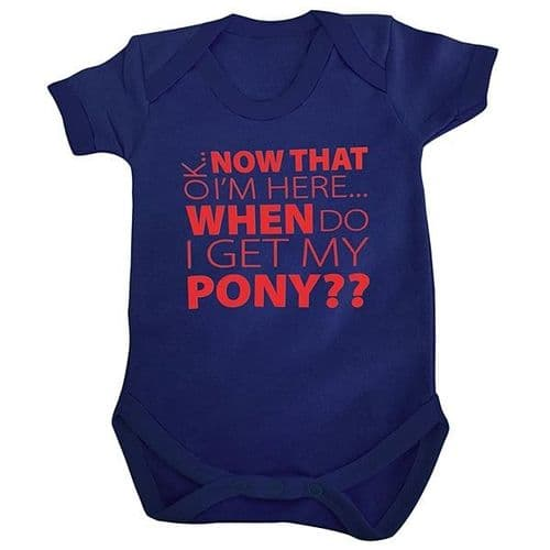 HWA My Pony Baby Romper in Navy