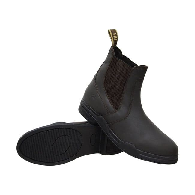 Hy Equestrian Waxed Leather Jodhpur Boot in Brown