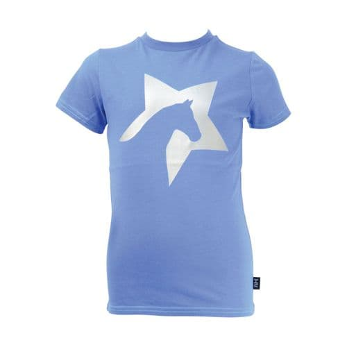 HyFASHION Zeddy T-Shirt in Cobalt Blue/Silver