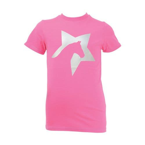 HyFASHION Zeddy T-Shirt in Flamingo Pink/Silver