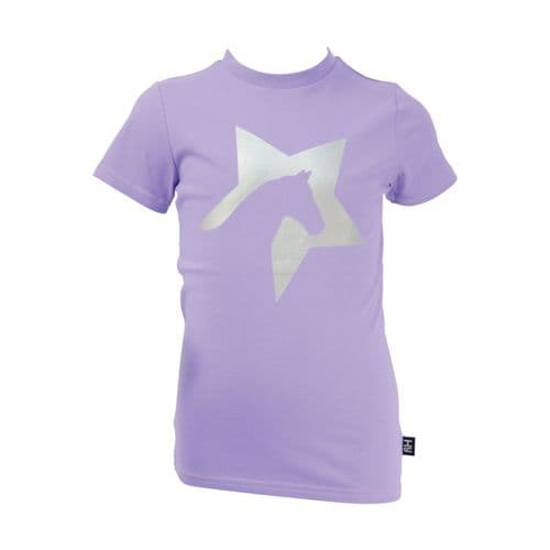 HyFASHION Zeddy T-Shirt in Floral Lavender/Silver