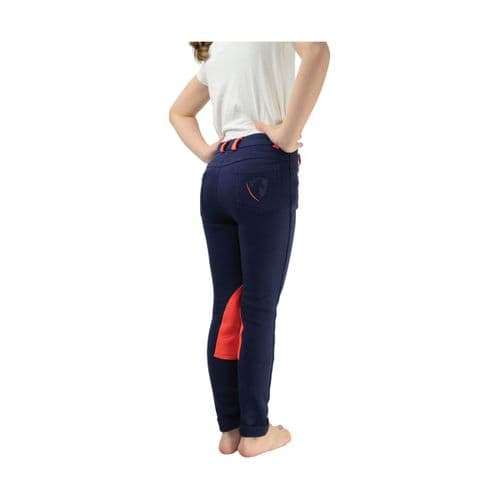 HyPERFORMANCE Child's Belton Jodhpur in Navy/Red