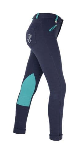 HyPERFORMANCE Child's Belton Jodhpur in Navy/Teal