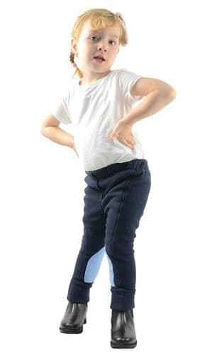 HyPERFORMANCE Fleece Tots Jodhpurs in Navy/Sky Blue - BOYS or GIRLS!