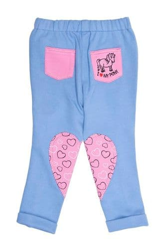 HyPERFORMANCE Heart Tots Jodhpurs in Baby Blue/Pretty Pink