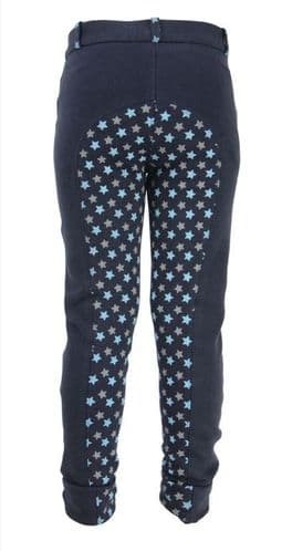 HyPERFORMANCE Star Childs Jods in Navy/Grey & Blue Stars