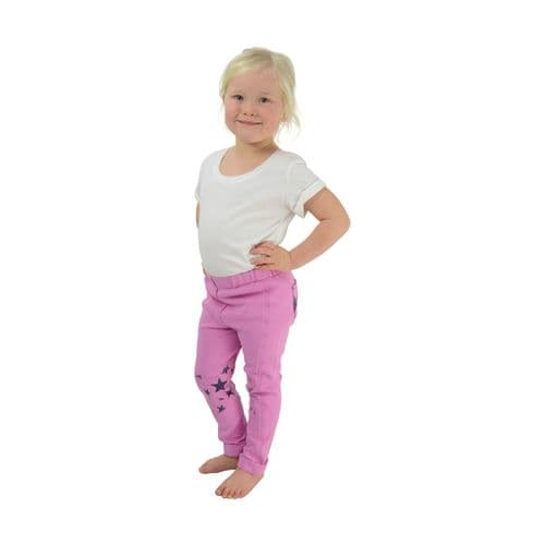 HyPERFORMANCE Star Tots Jodhpurs in Pink/Blackberry