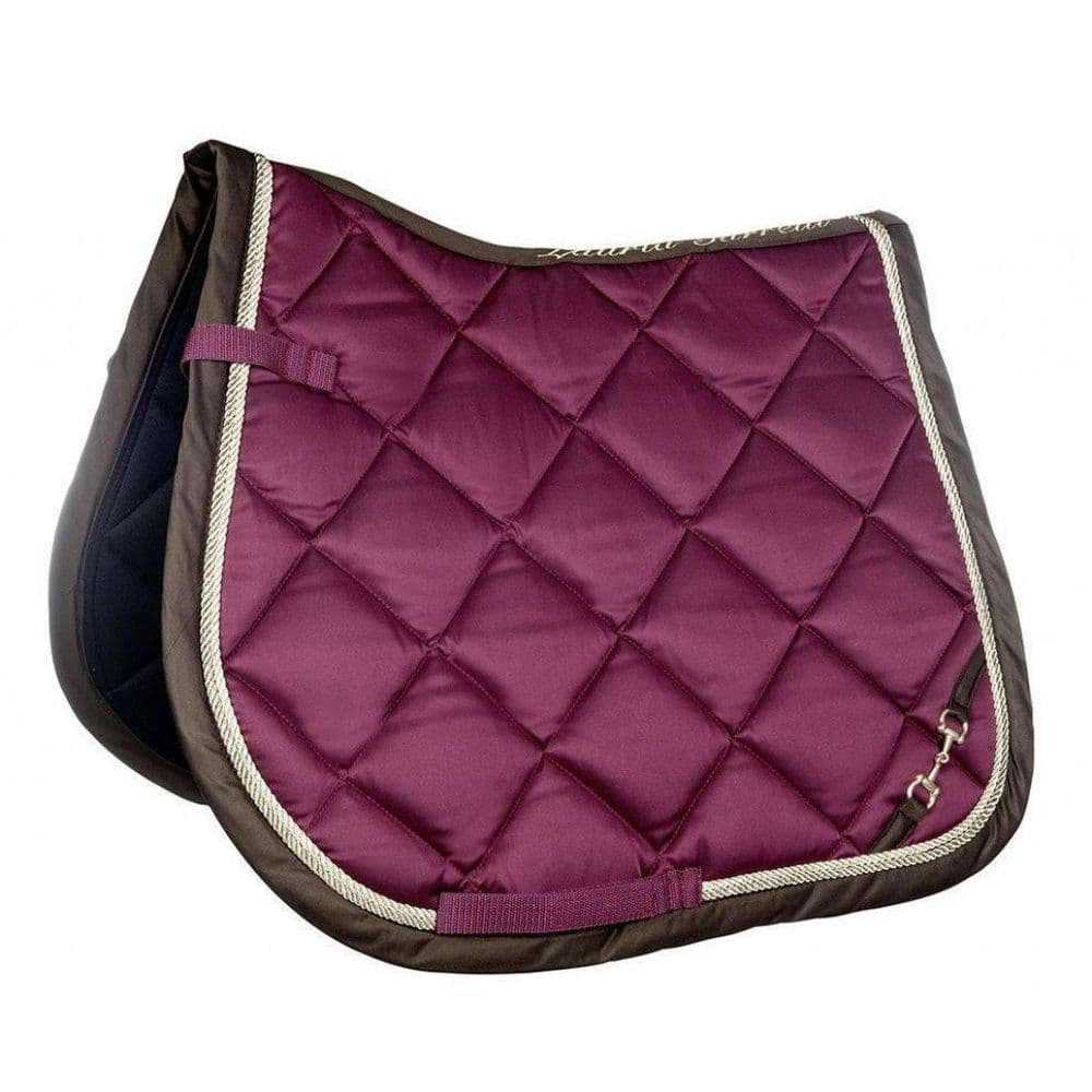 Lauria Garrelli Golden Gate (Bit) Saddle Cloth in Dark Red - Pony GP