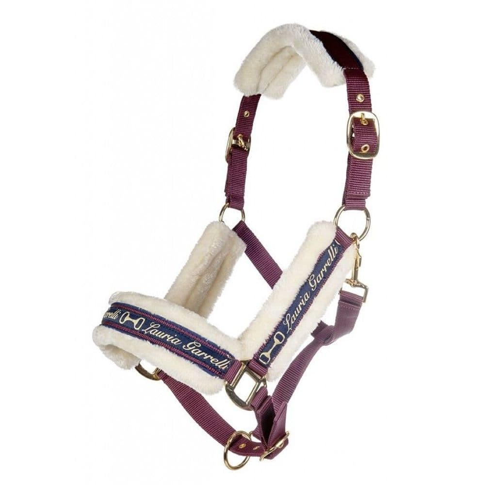Lauria Garrelli Morello Head Collar & Lead Rope Set in Grape (Pony Size)