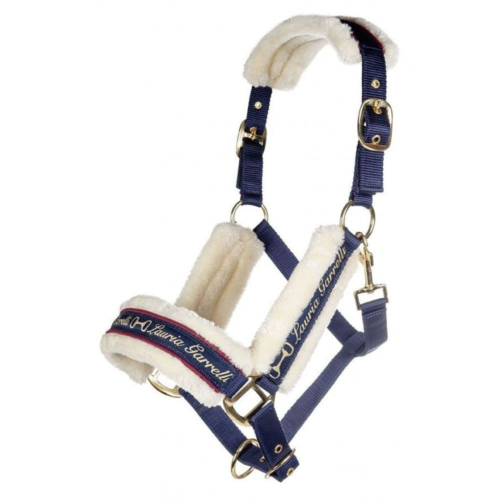 Lauria Garrelli Morello Head Collar & Lead Rope Set in Indigo (Pony Size)