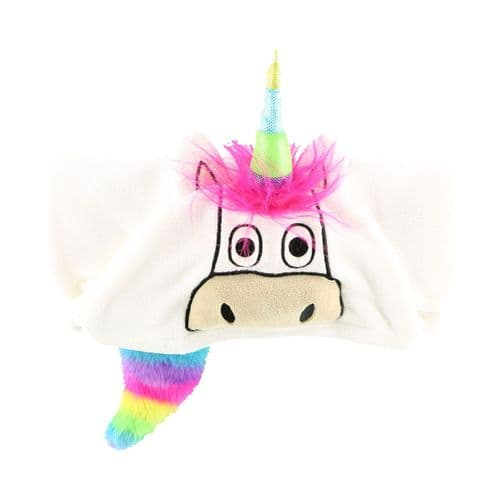 LazyOne Hooded 'Critter' Fleece Blanket in Unicorn design