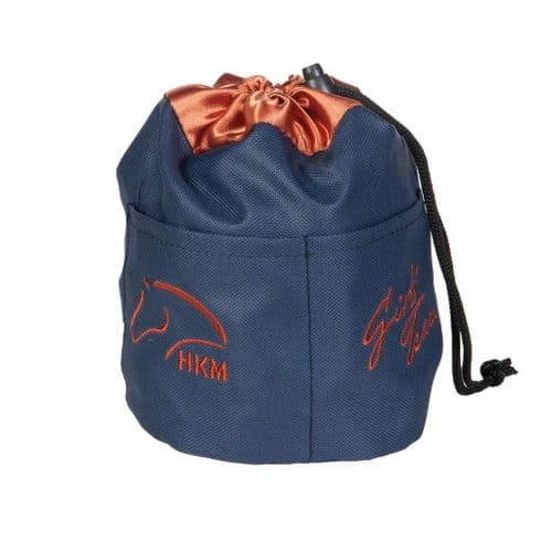 Little Sister Pony Treat Food Bag in Navy/Copper
