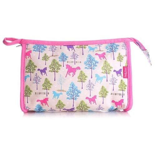 Milly Green Ponies Wash Bag