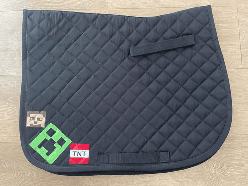 Minecraft quilted Saddle Cloth
