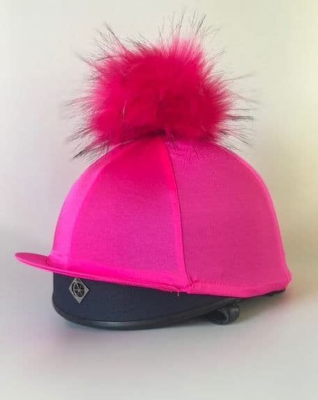 RIDING HAT COVER BABY PINK